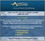 Logo for Andersen Accounting & Tax Services