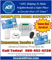 Logo for ADT Home Alarm Systems