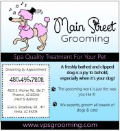 Logo for Main Street Grooming
