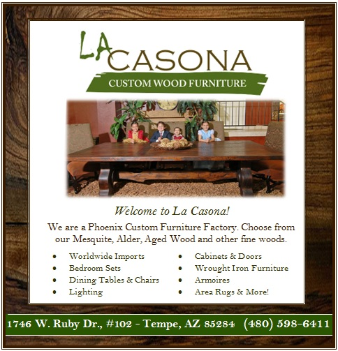 Logo for La Casona Custom Wood Furniture